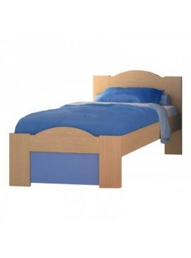 """SARRIS  Παιδικό κρεβάτι """"ΚΥΜΑ"""" ημίδιπλο σε χρώμα δρυς-σιελ 110x190 SARRIS 48-SIEL"""