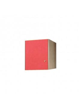 Πατάρι ντουλάπας μονόφυλλο σε χρώμα δρυς-κόκκινο 48x50x60 SB 32-KOKKINO