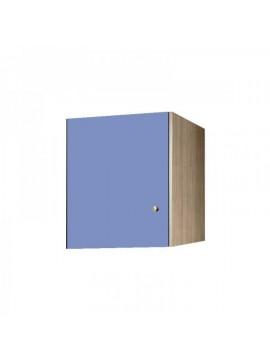 Πατάρι ντουλάπας μονόφυλλο σε χρώμα δρυς-σιελ 48x50x60 SB 32-SIEL