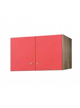 Πατάρι ντουλάπας δίφυλλο σε χρώμα δρυς-κόκκινο 105x50x60 SB 34-KOKKINO
