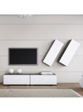 """Σύνθεση σαλονιού """"SMART 5D"""" σε χρώμα σταχτί-λευκό SB S5D"""