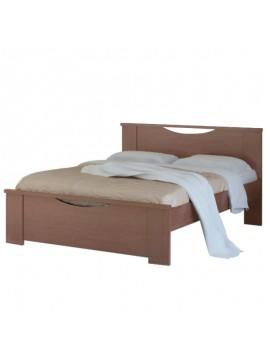 """Κρεβάτι """"ΧΑΜΟΓΕΛΟ"""" μονό σε χρώμα καρυδί 90x190 SB 15-KARYDI"""