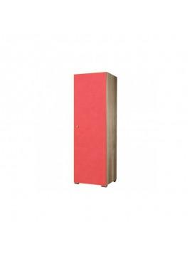 SARRIS  Ντουλάπα παιδική μονόφυλλη σε χρώμα δρυς-πορτοκαλί 48x50x180 SARRIS G1-PORTOKALI