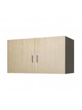 Πατάρι ντουλάπας δίφυλλο σε χρώμα δρυς 85x50x60 SB 33-DRYS