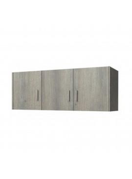 Πατάρι ντουλάπας τρίφυλλο σε χρώμα σταχτί 110x50x60 SB 35-STAXTI