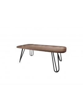 """SARRIS  Τραπέζι σαλονιού """"ΟΛΥΜΠΟΣ"""" σε χρώμα καρυδί 120x60x38 SARRIS 115-KARYDI"""