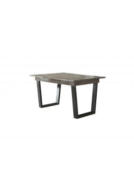 """SARRIS  Τραπέζι φαγητού """"ΗΦΑΙΣΤΟΣ"""" ανοιγόμενο σε χρώμα σταχτί 160(+40)x90x75 SARRIS 111-STAXTI"""