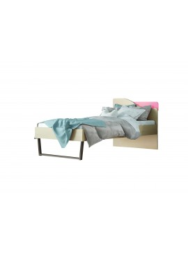 """Παιδικό κρεβάτι """"ΤΟΞΟ"""" μονό σε χρώμα δρυς-ροζ 90x190 SB 96C-ROZ"""