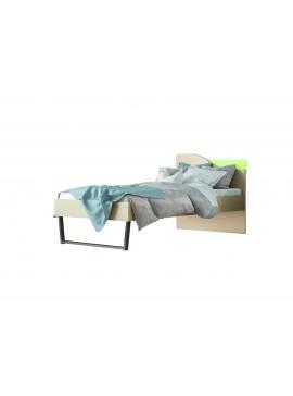 """Παιδικό κρεβάτι """"ΤΟΞΟ"""" μονό σε χρώμα δρυς-λαχανί 90x190 SB 96C-LAXANI"""
