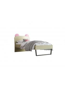 """Παιδικό κρεβάτι """"ΚΟΡΩΝΑ"""" μονό σε χρώμα δρυς-ροζ 90x190 SB 91C-ROZ"""