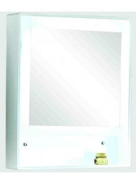 GLORIA MAGIA - ΚΑΘΡΕΠΤΗΣ ΕΠΙΠΛΟΥ PVC 60x12x70 LED - ΛΕΥΚΟΣ  55-6010