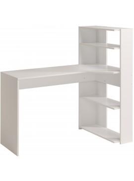 Γραφείο-Βιβλιοθήκη Corner-Λευκό  Μήκος 122.00 Βάθος 64.00 Ύψος 121.00  16285969