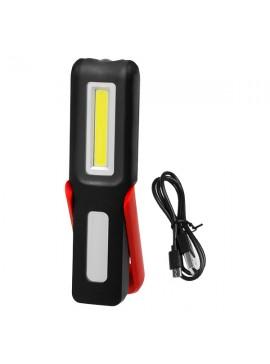 GloboStar® GloboStar®  79018 Φορητός Φακός Επαναφορτιζόμενος με Μπαταρίες COB LED 3+3 Watt με Μαγνήτη