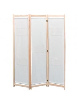 Διαχωριστικό Δωματίου με 3 Πάνελ Κρεμ 120x170x4 εκ. Υφασμάτινο  42975