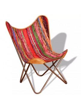 Καρέκλα Πεταλούδα Πολύχρωμη από Ύφασμα Chindi  243697