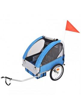 Τρέιλερ Ποδηλάτου Παιδιών Γκρι / Μπλε 30 κ.  91372