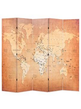 Διαχωριστικό Δωματίου Πτυσσόμενο Χάρτης Κίτρινο 200 x 170 εκ.  245879