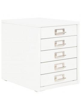 Συρταριέρα Αρχειοθέτησης 5 Συρτάρια Λευκή 28x35x35 εκ. Μέταλλο  245975
