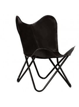 Καρέκλα Πεταλούδα Παιδική Μαύρη από Γνήσιο Δέρμα  246385
