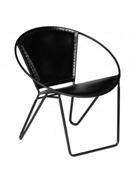 Πολυθρόνα Μαύρη από Γνήσιο Δέρμα  246368