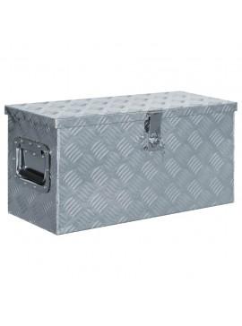 Κουτί Αποθήκευσης Ασημί 61,5 x 26,5 x 30 εκ. Αλουμινίου  142936