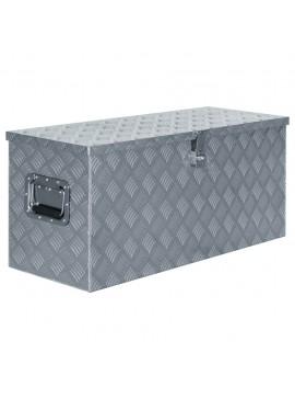 Κουτί Αποθήκευσης Ασημί 90,5 x 35 x 40 εκ. Αλουμινίου  142940