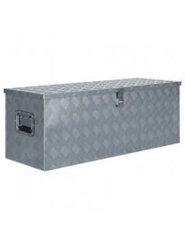 Κουτί Αποθήκευσης Ασημί 110,5 x 38,5 x 40 εκ. Αλουμινίου  142941