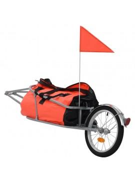 Τρέιλερ Ποδηλάτου Μεταφοράς Αποσκευών Πορτοκαλί / Μαύρο με Σάκο  91768