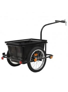 Τρέιλερ Ποδηλάτου για Μεταφορά Φορτίων Μαύρο 50 Λίτρα  91773