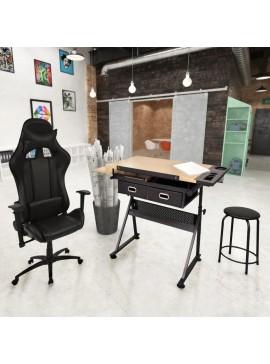 Τραπέζι Σχεδιαστήριο με Ανακλινόμενη Επιφάνεια & Καρέκλα Gaming 275652