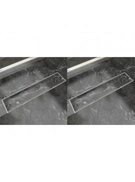 Σιφόνι Ντουζιέρας Γραμμικό 2 τεμ. 530x140 χιλ. Ανοξείδ. Ατσάλι  275947