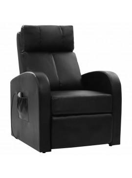 Πολυθρόνα Μασάζ Μαύρη από Συνθετικό Δέρμα  60595