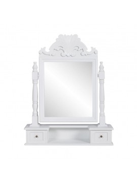Έπιπλο με Ορθογώνιο Ανακλινόμενο Καθρέφτη Μακιγιάζ από MDF   60628