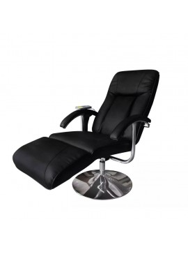 Πολυθρόνα Μασάζ Μαύρη από Συνθετικό Δέρμα  240064