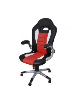 Καρέκλα γραφείου Συνθετικό δέρμα Μοντέρνο σχέδιο Κόκκινη  20073