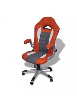 Καρέκλα γραφείου Συνθετικό δέρμα Μοντέρνο σχέδιο Πορτοκαλί  20075