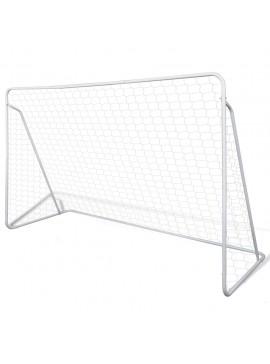 Σετ Τέρμα Ποδοσφαίρου με Δίχτυ 240 x 90 x 150 εκ. από Ατσάλι  90572