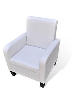 Πολυθρόνα Λευκή από Συνθετικό Δέρμα  241110