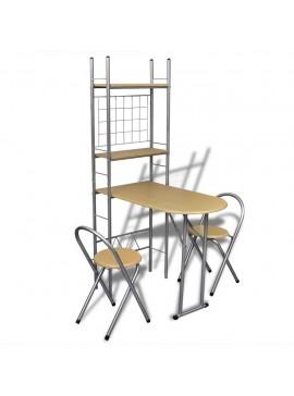 Αναδιπλούμενο Σετ Πρωινού με Πάγκο και 2 Καρέκλες  241032