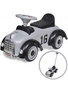 Αυτοκίνητο Περπατούρα Παιδικό Ρετρό με Λαβή Γονέα Γκρι  10079