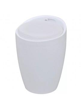 Σκαμπό Λευκό από Συνθετικό Δέρμα  242244