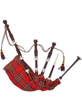 Γκάιντα Σκωτσέζικη με Σχέδιο Σκωτσέζικο Καρό Κόκκινη  70043
