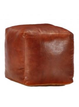 Πουφ Ταμπά 40 x 40 x 40 εκ. από Γνήσιο Δέρμα Κατσίκας  248126