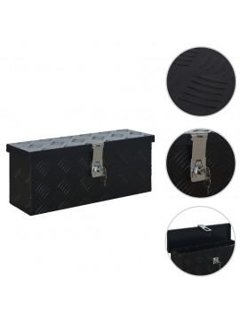 Κουτί Αποθήκευσης Μαύρο 485 x 140 x 200 χιλ. Αλουμινίου  144845