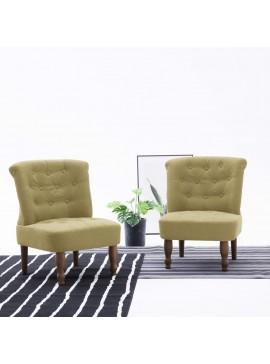 Πολυθρόνα Γαλλικού Στιλ Πράσινη Υφασμάτινη  282126
