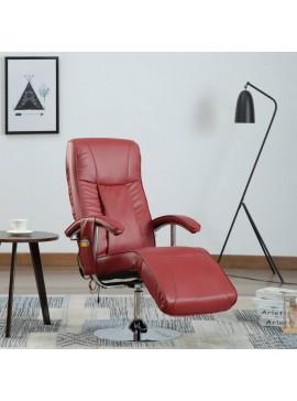 Πολυθρόνα Μασάζ Μπορντό από Συνθετικό Δέρμα  248595