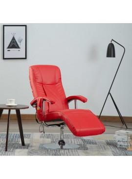 Πολυθρόνα Μασάζ Κόκκινη από Συνθετικό Δέρμα  248596