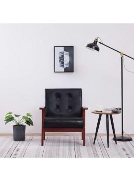 Πολυθρόνα Μαύρη από Συνθετικό Δέρμα  248641