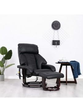 Πολυθρόνα Μασάζ Ανακλινόμενη Μαύρη από Συνθετικό Δέρμα  248679