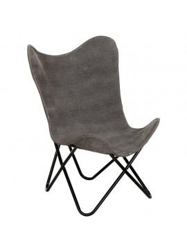 Καρέκλα Πεταλούδα Ανθρακί από Καμβά  283766